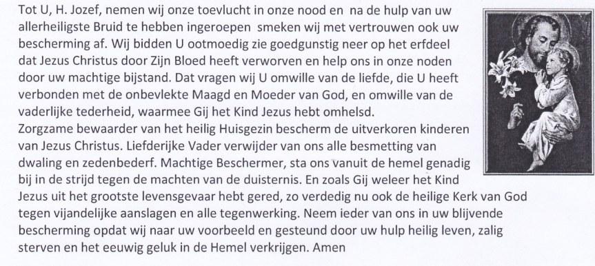 gebed tot de H. Jozef