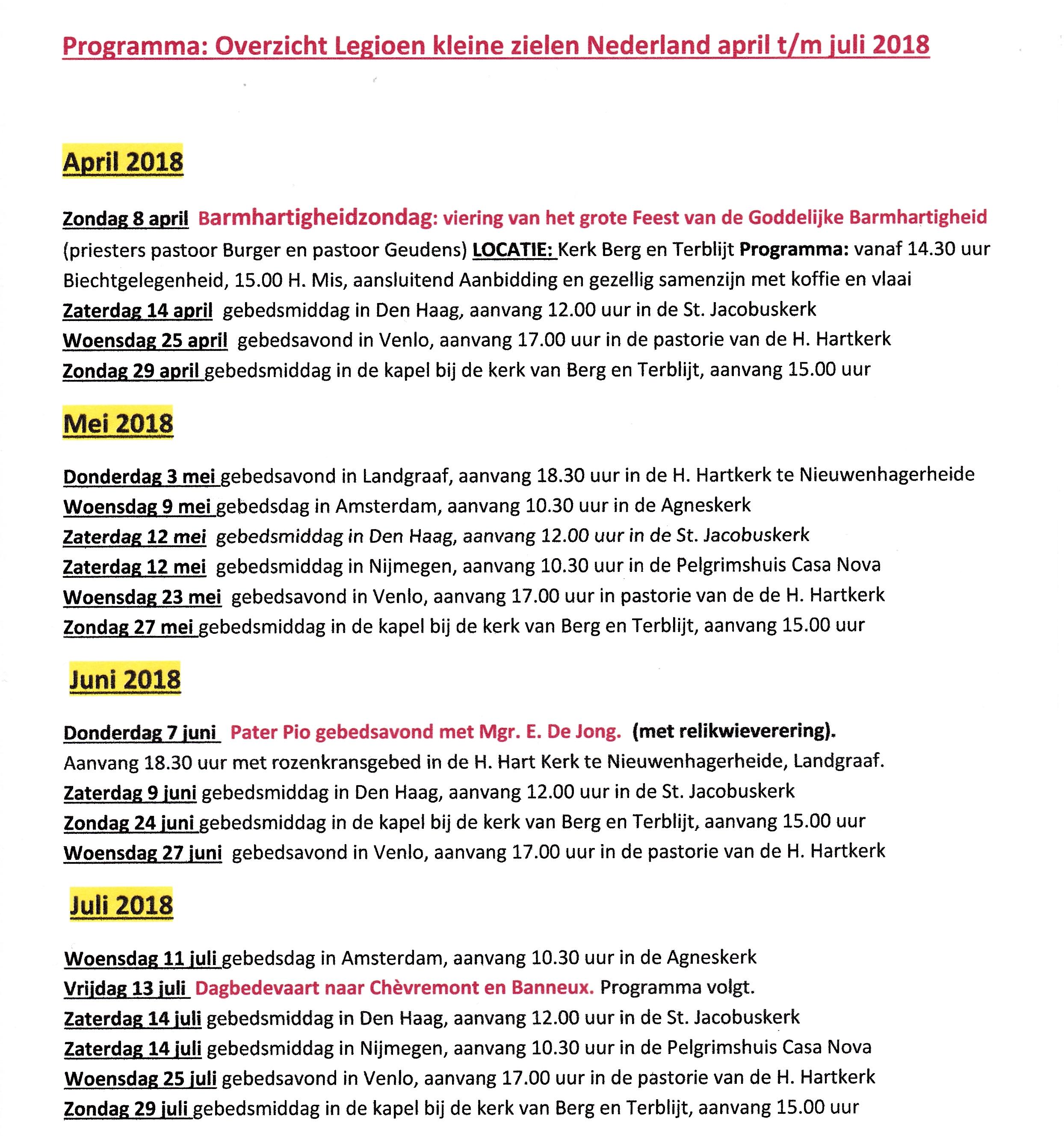 Lkz programma april juli 2018